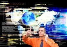 Technologie d'Internet de connexion de mondialisation Image stock