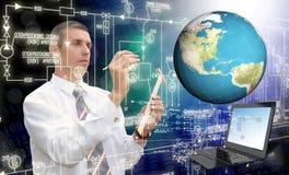 Technologie d'Internet de connexion de mondialisation Photos libres de droits