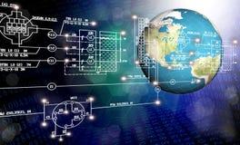 Technologie d'Internet de connexion de mondialisation Photographie stock