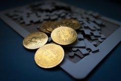 Technologie d'Internet de technologie de pièce de monnaie de Bitcoin Cryptocurrency Digital BTC image libre de droits