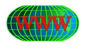 Technologie d'Internet du monde Photographie stock libre de droits
