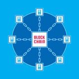 Technologie d'ordinateur de réseau de Blockchain - illustration créative de concept de vecteur Conception graphique de dispositio illustration libre de droits