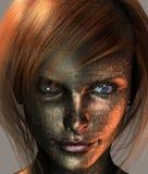 Technologie d'une chevelure rouge illustration libre de droits