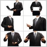 Technologie dans les mains des hommes d'affaires Photo stock