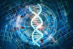 Technologie-de achtergrond van DNA stock illustratie