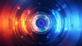 Technologie-de Animatieachtergrond van de Achtergrondmotiegrafiek stock video