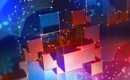 Technologie de Blockchain Blocs d'information dans un cyberespace d?centralis