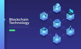Technologie de Blockchain de concept illustration stock