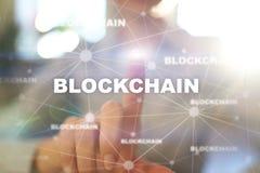 Technologie de Blockchain, FIntech, Bitcoin, Cryptocurrency Concept d'Internet d'affaires illustration stock
