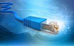 Technologie de câble de réseau Photographie stock