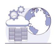 Technologie de centre de traitement des données Photo libre de droits