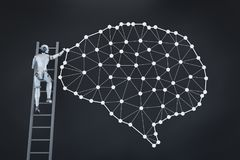 Technologie de cerveau d'AI illustration de vecteur
