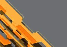 Technologie de circuit noire jaune abstraite de polygone sur le vecteur futuriste moderne de fond de conception grise d'espace vi Photographie stock