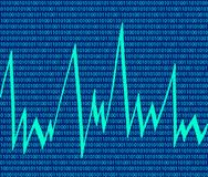 technologie de code binaire de fond Images stock