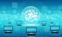 Technologie de commerciële verbindingsachtergrond van Internet Stock Foto's