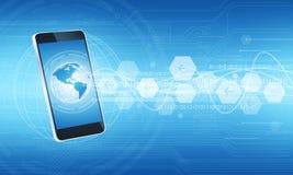 Technologie de communicatie verbindingsachtergrond van Internet Royalty-vrije Stock Fotografie