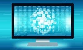 Technologie de communicatie verbindingsachtergrond van Internet Royalty-vrije Stock Afbeelding