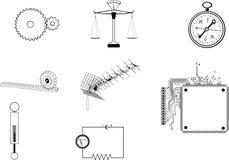 Technologie de cru dessins analogiques Images stock
