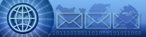 Technologie de drapeau et Internet de WW Image libre de droits