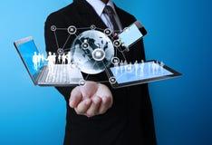 Technologie in de handen Royalty-vrije Stock Foto