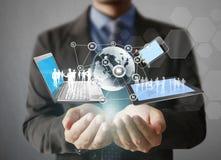 Technologie in de handen Royalty-vrije Stock Afbeelding