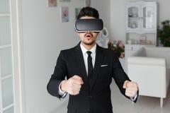 technologie de la vision 3d, simulation de jeu vidéo Photos stock