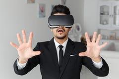 technologie de la vision 3d, simulation de jeu vidéo Photographie stock libre de droits