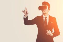 technologie de la vision 3d, verres de réalité virtuelle Image stock