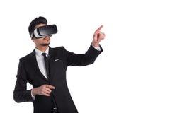 technologie de la vision 3d, verres de réalité virtuelle Photos stock