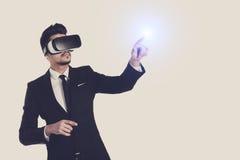 technologie de la vision 3d, verres de réalité virtuelle Photographie stock libre de droits