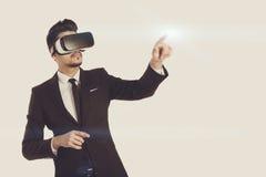 technologie de la vision 3d, verres de réalité virtuelle Photo libre de droits