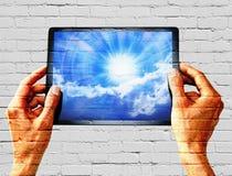 Technologie de mur de Tablette de graffiti photos libres de droits