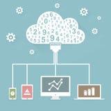 Technologie de nuage Photographie stock