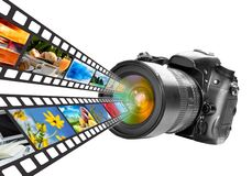 Technologie de photographie et de medias illustration de vecteur