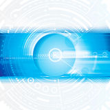 technologie de planète de téléphone de la terre de code binaire de fond Image libre de droits
