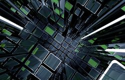 technologie de planète de téléphone de la terre de code binaire de fond Photographie stock