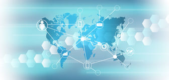 technologie de planète de téléphone de la terre de code binaire de fond Image stock