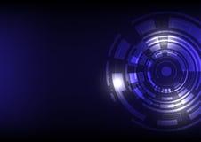 technologie de planète de téléphone de la terre de code binaire de fond illustration de vecteur
