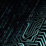 technologie de planète de téléphone de la terre de code binaire de fond Illustration courante Images stock