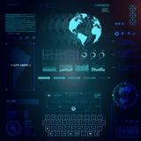 technologie de planète de téléphone de la terre de code binaire de fond Interface utilisateurs futuriste Photo libre de droits