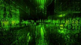 technologie de planète de téléphone de la terre de code binaire de fond Code binaire Résumé Big Data illustration libre de droits