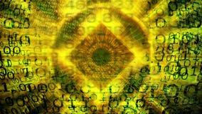 technologie de planète de téléphone de la terre de code binaire de fond Code binaire Résumé Big Data illustration de vecteur