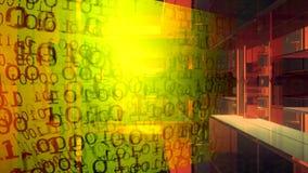 technologie de planète de téléphone de la terre de code binaire de fond Code binaire Résumé Big Data Train de données de données
