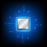 Technologie de processeur d'ordinateur Photos libres de droits