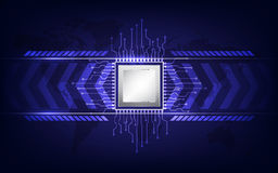Technologie de processeur d'ordinateur Photo stock