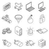 Technologie de protection des données et affaires de Web Images stock