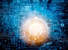 Technologie de réseau abstraite pour le fond Images stock