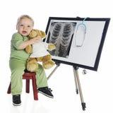 Technologie de rayon X avec un coeur Images libres de droits