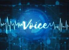 Technologie de reconnaissance vocale Photo libre de droits