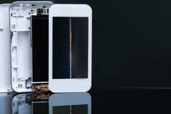 Technologie de smartphone d'ensemble d'atelier Photo stock